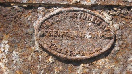 manufacturer's seal on stamp mill bucket